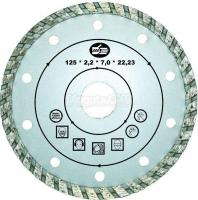 Диск алмазный турбо 888, 125х22.23 мм, толщина 2.4 мм