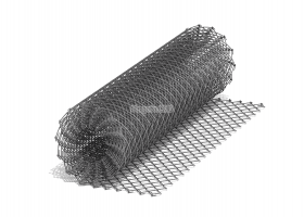 Сетка рабица не оцинкованная ячейка 35х35 (1,5мм) рулон 1,5х10м